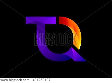 Modern T And Q Letter Logo Design Vector Template