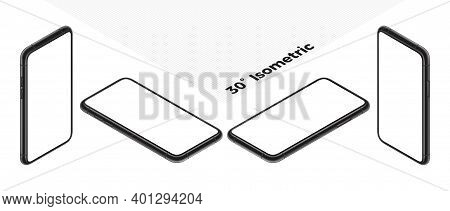 Mobile Device Screen, Phone Display Frame And Realistic 3d Mobile App Presentation Vector Template