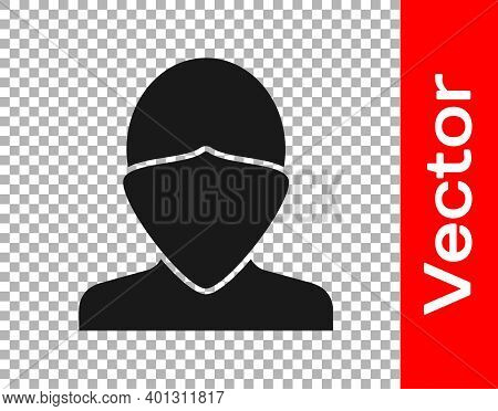 Black Vandal Icon Isolated On Transparent Background. Vector