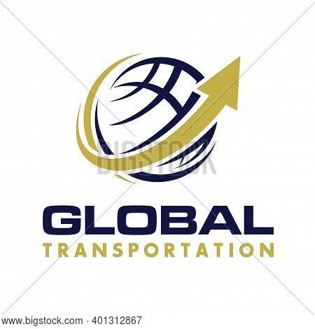 Logistic Transportation And Logistic Logo Design Vector