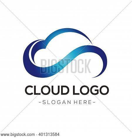 Cloud Tech Logo. Cloud Technology Logo Vector