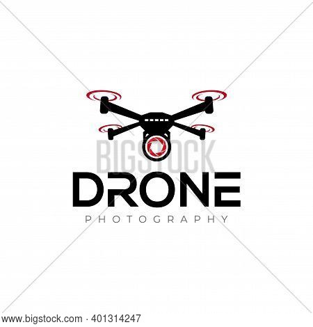 Drone Logo. Aerial Drone, And Drone Photography Logo Design Vector