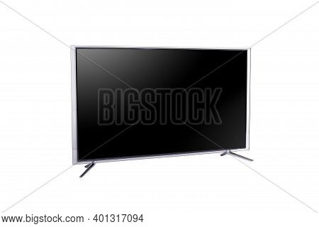 Widescreen Led Or Lcd Internet Tv Monitor Isolated On White Background.