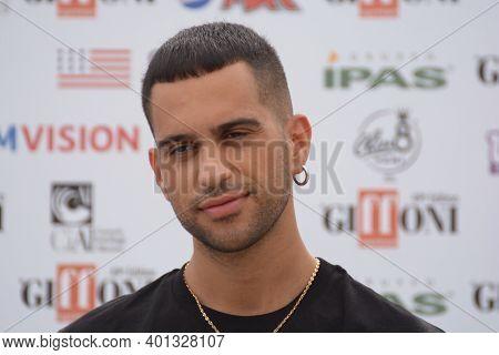 Giffoni Valle Piana, Sa, Italy - July 27, 2019 : Mahmood At Giffoni Film Festival 2019 - On July 27,
