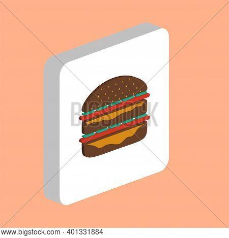 Hamburger Simple Vector Icon. Illustration Symbol Design Template For Web Mobile Ui Element. Perfect