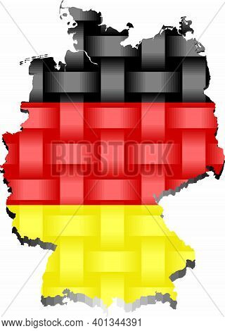 Germany Map - Illustration,  Three Dimensional Map Of Germany