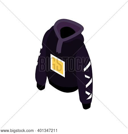 Isometric Online Shopping Fashion Clothes With Pullover Vector Illustration