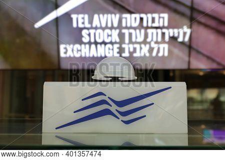 Tel Aviv, Israel - November 23, 2020 :the Opening Trading Podium On The Tel Aviv Stock Exchange.