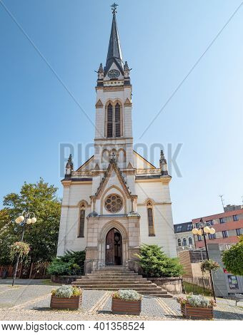 Dr. Farsky Evangelic Church In Jablonec Nad Nisou Town.  16th Of September 2020. Czech Republic