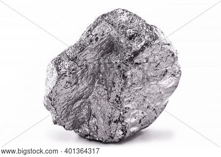 Cobalt Stone On Black Isolated Background. Industrial Ore Used In Construction And Medicine.