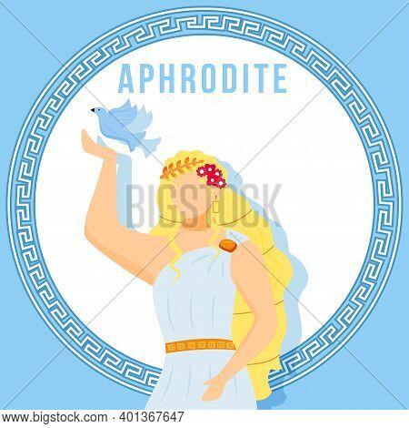 Aphrodite Blue Social Media Post Mockup. Greek Goddess. Mythological Figure. Web Banner Design Templ