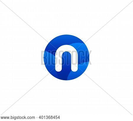 N Alphabet Modern Logo Design Concept Company