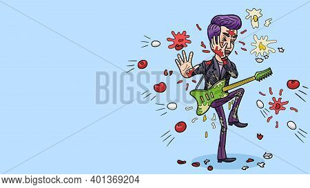 The Guitarist Was Pelted With Tomatoes And Chicken Eggs, After An Unsuccessful Performance.
