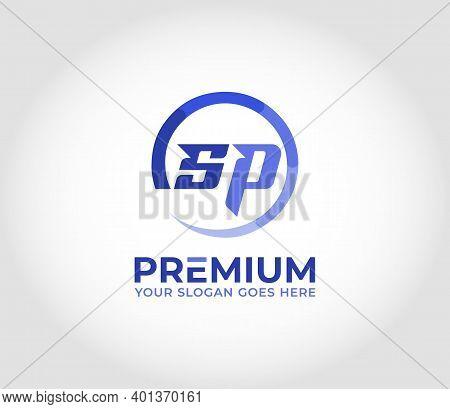 Sp Alphabet Modern Logo Design Concept Company