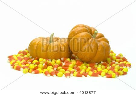 Pumpkins And Candy Corn