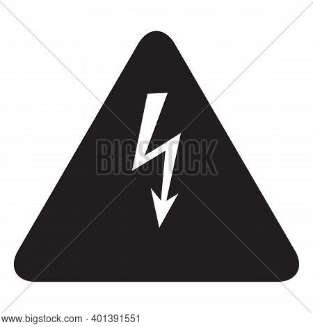 Electricity Icon Isolated On White Background From Electrician Connections Collection. Electricity I