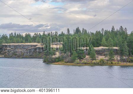 The View Of  Williams Lake In Eastern Washington. Cheney, Spokane County, Washington