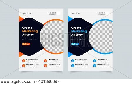 Corporate Business Flyer Design Template, Creative Brochure Poster Cover, Color A4 Print Ready Flyer