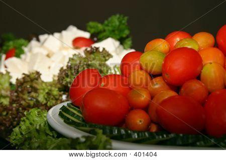 Fresh Fruit And Vegetable Display