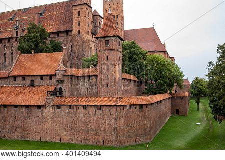 Malbork Castle, Formerly Marienburg Castle, The Seat Of The Grand Master Of The Teutonic Knights, Ma