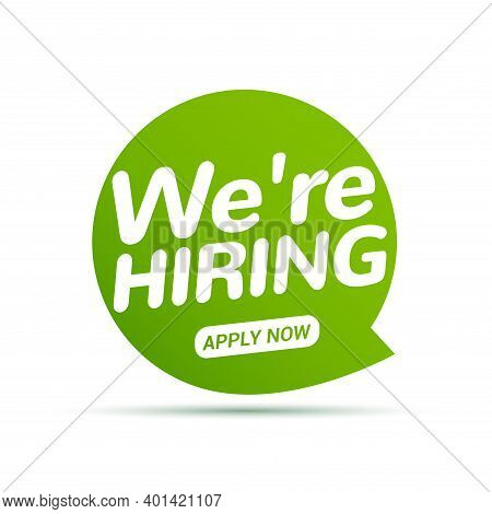 Job Vacancy, We Are Hiring Now. Hr Team Recruit Employee Concept. Career Job Vacancy Intervew Offer