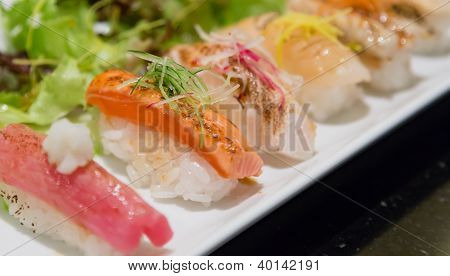 Aburi Nigiri Sushi Japanese Food
