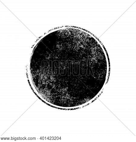 Grunge Texture Brush Stamp Vector Circle Dot. Rubber Graphic Grunge Stamp Vintage Background