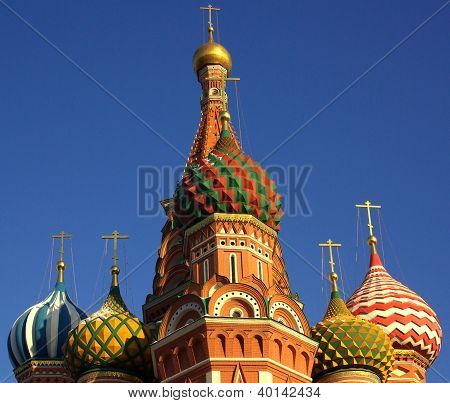 Intercession Cathedral At Red Square In Moscow, Russia