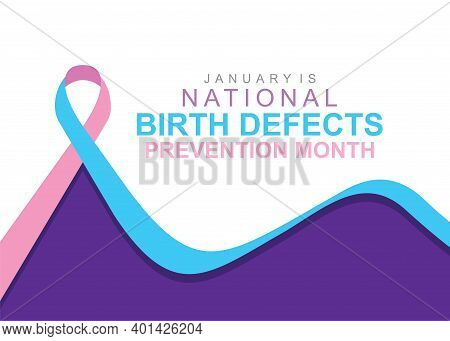 Vector Illustration Of National Birth Defects Prevention Month Of January.
