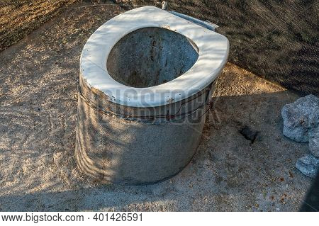 A Long Drop Toilet At Spitzkoppe In Namibia