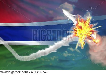 Strategic Rocket Destroyed In Air, Gambia Ballistic Warhead Protection Concept - Missile Defense Mil