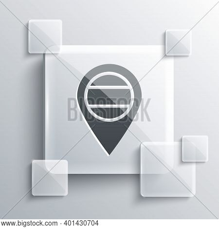 Grey Location Russia Icon Isolated On Grey Background. Navigation, Pointer, Location, Map, Gps, Dire