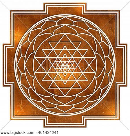 Sriyantra Shakti Hold Support Geometry Hinduism Tantrism
