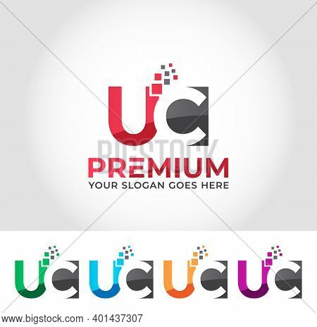 Uc Alphabet Modern Logo Design Concept Company