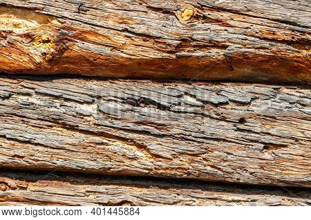 Old Rotten Wooden Boards Texture For Background