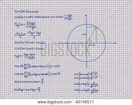 Mathematical Rules Trigonometry Geometry