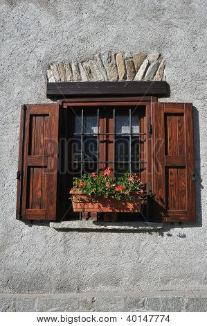 Window Of An Alpine House