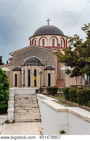 Church Of Panagia, Kavala's Oldest Church, Built In 1965, Greece.