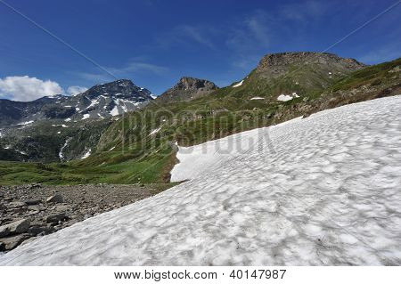 Snow In The Summer Under The Mountains