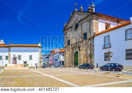 Braga, Portugal, June 24, 2017: Igreja De Sao Paulo And Igreja De Sao Tiago Da Cividade Catholic Chu