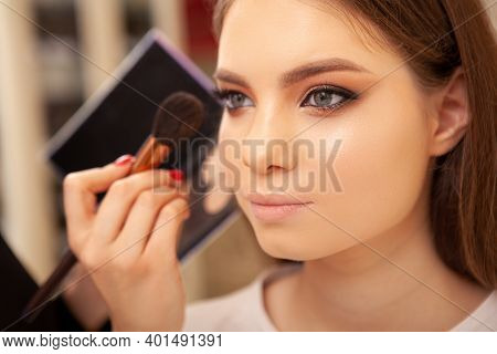 Cropped Shot Of A Young Beautiful Female Fashion Model Getting Her Makeup Done Backstage