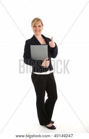 Professional Woman Giving A Thumbs Up