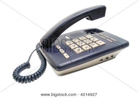Teléfono con botones blancos