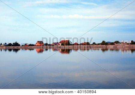 Houses On A Lakeshore