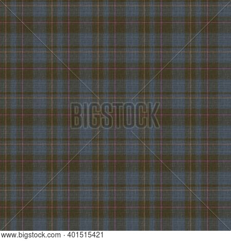 Knit Wool Plaid Background Pattern. Traditional Warm Checkered Handmade Stitch Texture Effect. Seaml
