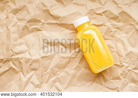 Fresh Orange Juice In Eco-friendly Recyclable Plastic Bottle And Packaging, Healthy Drink And Food P