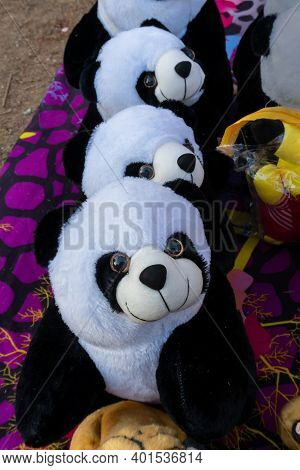 Colorful Bear Dolls , Handicraft Products Being Sold At Hastashilpomela Or Handicrafts Fair At Kolka