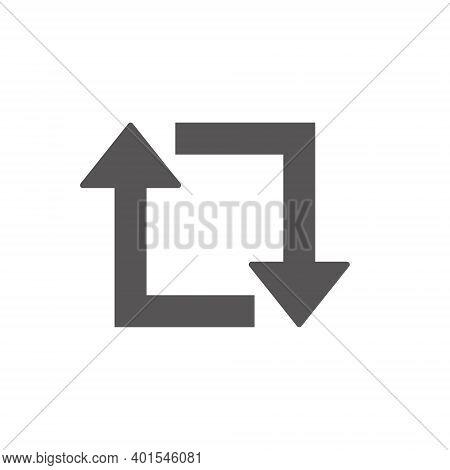 Arrow Retweet Icon On White Background. Eps10