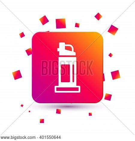White Pepper Spray Icon Isolated On White Background. Oc Gas. Capsicum Self Defense Aerosol. Square