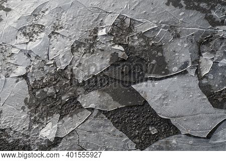 Mortara -12/29/2020: Ice Cracked On The Road